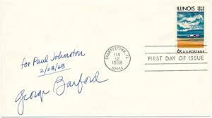 Signed First Day Cover.: BARFORD, George (1913-98).
