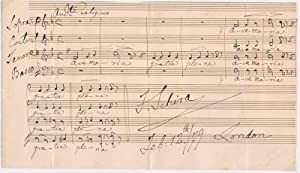 Autograph Musical Quotation Signed.: SCHIRA, Francesco (1809-83).