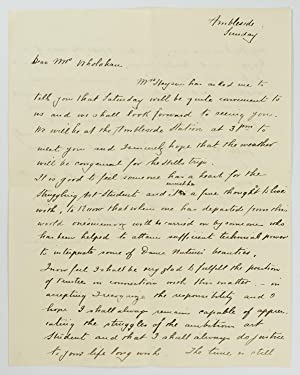 An autograph letter signed to 'Dear Mrs Wholahan'; quarto, two pages, Ambleside [Hahndorf], Sunda...