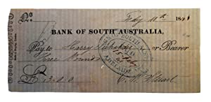 Two early items associated with the Bank of South Australia are offered together. (1) A manuscrip...