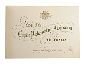 Visit of the Empire Parliamentary Association to Australia. Itinerary and Views in Each State. ...