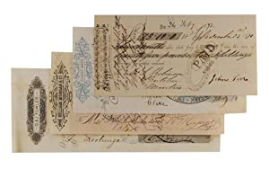Approximately 160 attractively printed nineteenth century South Australian promissory notes, with...