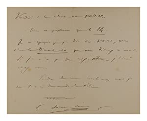 An autograph letter signed to Baroness Caccamisi (Blanche Marchesi, mezzo-soprano and voice teach...