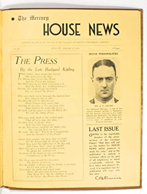 The Mercury House News. Number 1, December 1936 to Number 14, March 1938 [all published]