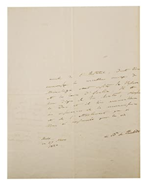 An autograph letter signed ('Le Bn de Humboldt') to an unidentified 'Monsieur le Duc...