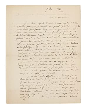 An autograph letter (in French) signed by Saint-Saëns, to Edmond Hippeau, editor of 'La Renaissan...