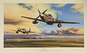 Duxford Eagles . Led by Colonel John Landers flying 'Big Beautiful Doll' - one of the most flambo...