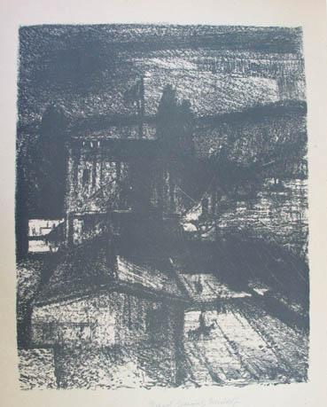 """Lithographie """"Abend an der Donau"""". 1948; 33: Gessner Richard (1894-1989)"""