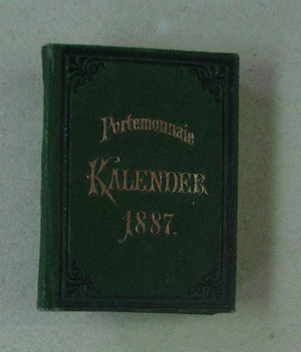Portemonnaie-Kalender für 1887. (O.O. u. Vlg. 1886): Deutscher Kalender