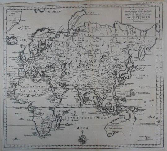 Niederlande Karte Welt.Neue Karte Des Oestlichen Theiles Der Welt