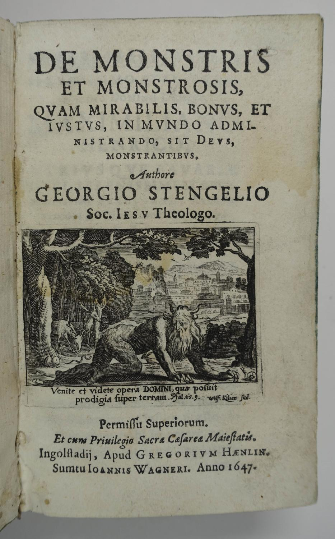 De monstris et monstrosis quam mirabilis, bonus: Stengel Georg