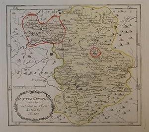 Unter Kaernten mit den salzburgischen Antheilen. Nro. 137. Teilkolorierte Kupferstich - Karte aus ...