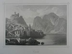 Curzola. Stahlstich v. E. Obermeyer n. F.: Korcula