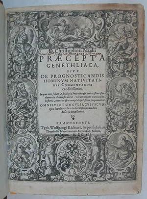 Praecepta genethliaca, sive de prognosticandis hominum nativitatibus: Pezel Christhph