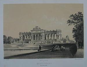 Schönbrunn. Das Gloriette . Tonlithographie v. Franz: Hietzing - Schönbrunn