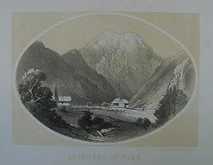 """Jagdhaus im Ring. Tonlithographie aus Reichert """"Einst und jetzt"""" Graz 1863-66, 14 x 19 cm..."""