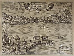 Gmunden. Kupferstich nach Lukas von Valckenborch (Löwen: Gmunden