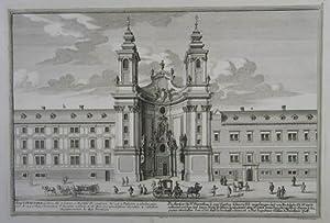 """Die Kirche zu St. Dorothea . Kupferstich v. Heumann aus S. Kleiner """"Wahrhaffte und genaue ..."""