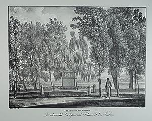 Denkmahl des General Schmidt bei Krems. Lithographie: Krems
