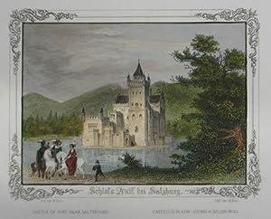 Schloss Anif bei Salzburg. Kolorierter Stahlstich v.: Anif - Schloß