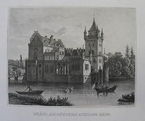 "Gräfl. Arco'sches Schloss Anif. Stahlstich aus ""Album: Anif - Schloß"