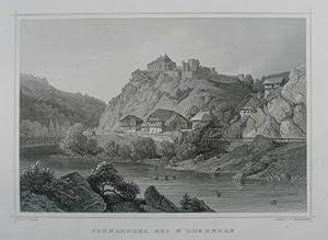 Sonnenberg bei St. Lorenzen. Stahlstich v. Fr.: Sonnenburg bei St.
