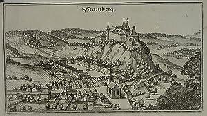 "Starnberg. Kupferstich aus M. Merian ""Topographia Provinciarum Austriacarum"" Frankfurt 1649..."