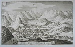 """Ischel. Kupferstich aus M. Merian """"Topographia Provinciarum: Bad Ischl"""