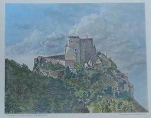 Burg Emerberg. Kol. Holzstich v. L. Geisbe: Wiener Neustadt -