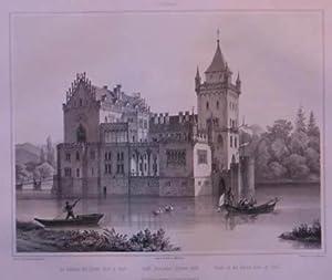 Gräfl. Arco'sches Schloss Anif. Tonlithographie v. L.: Anif - Schloß