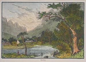 Sexten. Kolorierter Holzstich um 1887, 8 x 12 cm: Sexten
