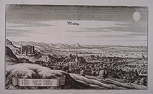 "Medling. Kupferstich aus M. Merian ""Topographia Provinciarum: Mödling"