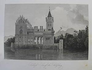 Schloss Anif bei Salzburg. Stahlstich aus Baldi: Anif - Schloß