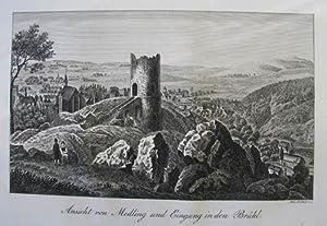 Ansicht von Medling und Eingang in den: Mödling