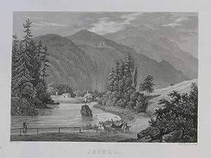 Ischel. Stahlstich v. Rybicka nach Carot, Verlag v. Gottlieb Haase Söhne in Prag 1838, 11 x ...