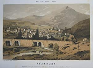 Feldkirchen. Mehrfarb. Tonlithographie v. Conrad Grefe n.: Feldkirchen