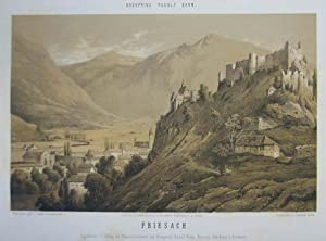 Friesach. Mehrfarb. Tonlithographie v. Conrad Grefe n.: Friesach