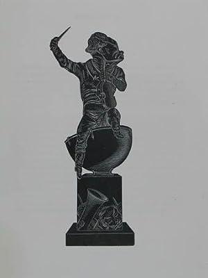 """Holzstich aus """"Musée Dantan. Galerie des charges: Habeneck François-Antoine (1781-1849)"""