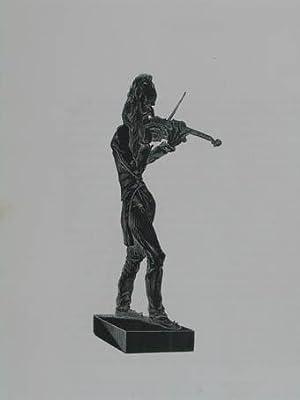 """Holzstich aus """"Musée Dantan. Galerie des charges: Paganini Niccoló (1782-1840)"""