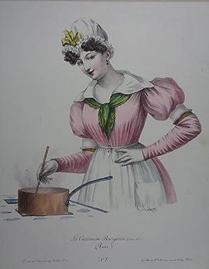 La Cuisiniere Bourgeoise. (Cordon bleu) (Paris). Altkolorierte: Küche