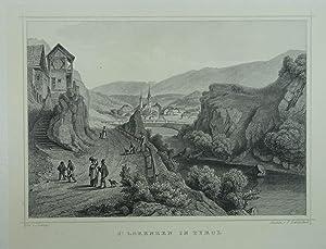 St. Lorenzen in Tyrol. Stahlstich v. Fr.: St. Lorenzen