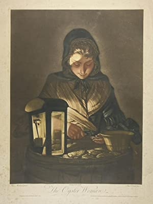 The Oyster Woman. Schabkunstblatt in Farbe von Philip Dawe nach Henry Robert Morland. London, Car...