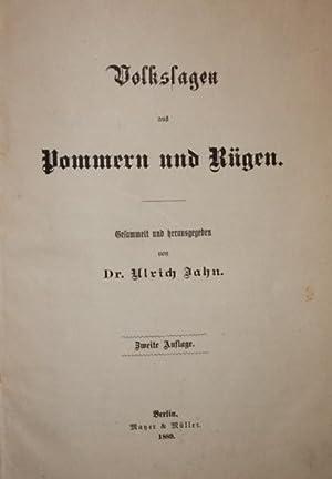 Volkssagen aus Pommern und Rügen. Zweite Auflage.: Jahn, Ulrich (Hrsg.).