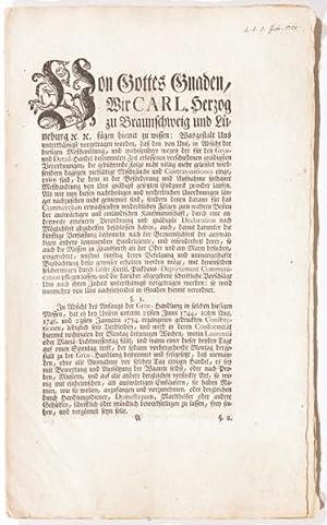 Verordnung (Erneuerung und Ergänzung von älteren Edikten über den Meß-, Gro&...