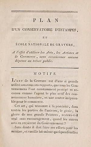 Plan d?un Conservatoire d?Estampes, et Ecole Nationale de Gravure.: Guyot, Laurent.