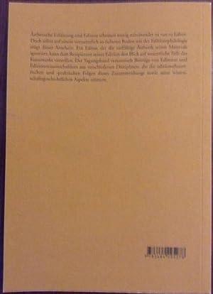 Ästhetische Erfahrung und Edition. Beihefte zu editio, Bd 27: Falk, Rainer / Mattenklott, Gert...