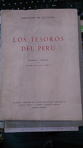 LOS TESOROS DEL PERÚ (Madrid, 1958) Obra escrita en 1563, esta es la primera edición ...