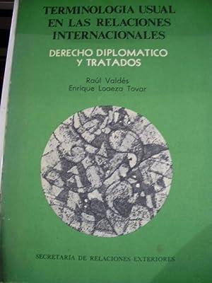 DERECHO DIPLOMÁTICO Y TRATADOS. Terminología usual en las Relaciones Internacionales ...