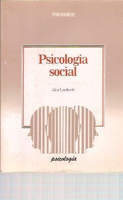 PSICOLOGÍA SOCIAL (Madrid, 1989): John Lamberth