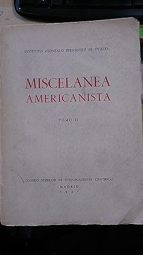 MISCELÁNEA AMERICANISTA. Tomo II (Madrid, 1950) Ensayos: Varios autores: Fr.